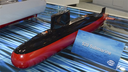 Model of China's S20 submarine for export