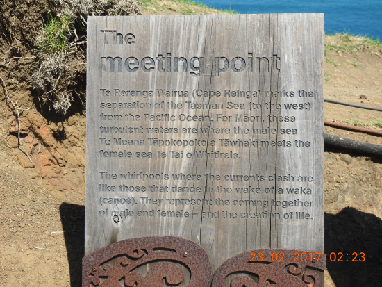 Cape Reigna NZ Meeting Point of Oceans and one of Maori people's most holy sites